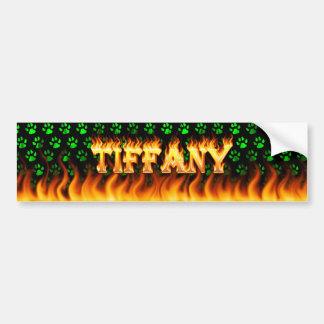 Le vrai feu de Tiffany et conception d'adhésif pou Autocollant De Voiture