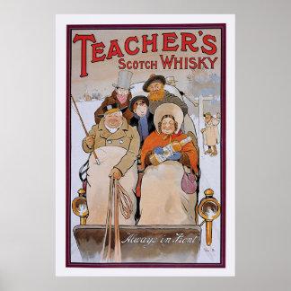 Le whisky écossais du professeur poster