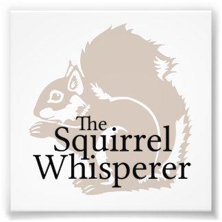 Le Whisperer d'écureuil Photos Sur Toile
