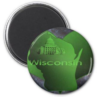 Le Wisconsin à la maison Aimants Pour Réfrigérateur