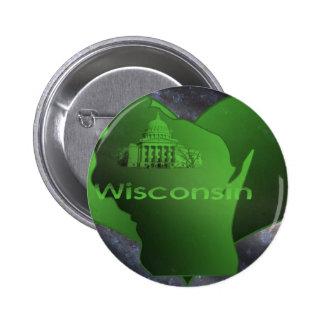 Le Wisconsin à la maison Badge Avec Épingle