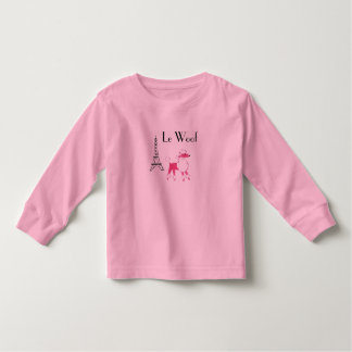 Le Woof  Pink Poodle in Paris Toddler T-shirt