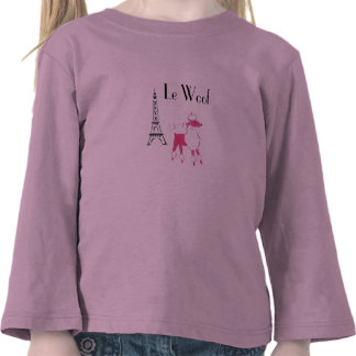 Le Woof  Pink Poodle in Paris Tee Shirts