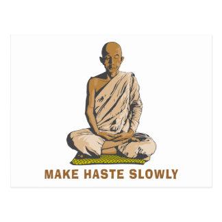 Le yoga font vite lentement cartes postales