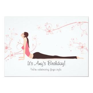 Le yoga se développe invitation carton d'invitation  12,7 cm x 17,78 cm