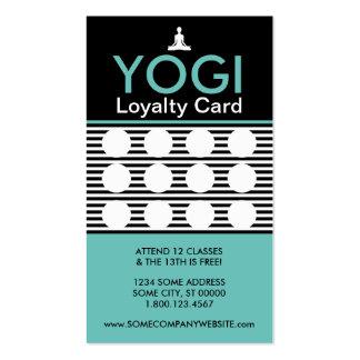 le yogi strie la carte de timbre modèle de carte de visite