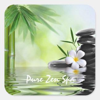 Le zen en bambou personnalisé lapide le Plumeria Sticker Carré