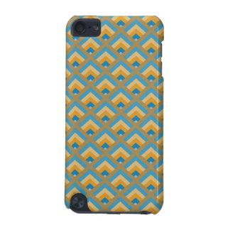 Le zigzag moderne des hommes géométriques bleus et coque iPod touch 5G