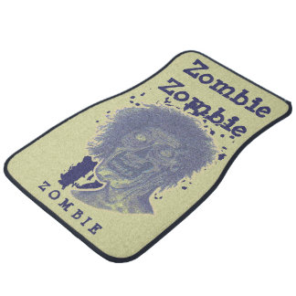 Le zombi a illustré beige jaune principal de tapis de sol