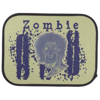 Le zombi a illustré beige jaune principal de tapis de voiture