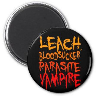 Leach, Bloodsucker, Parasite, Vampire 2 Inch Round Magnet