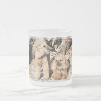 Leach - Poodles - Romeo Remy Frosted Glass Coffee Mug
