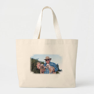 Leach - Poodles - Romeo Remy Large Tote Bag