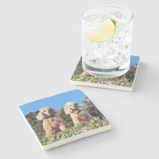 Leach - Poodles - Romeo Remy Stone Coaster