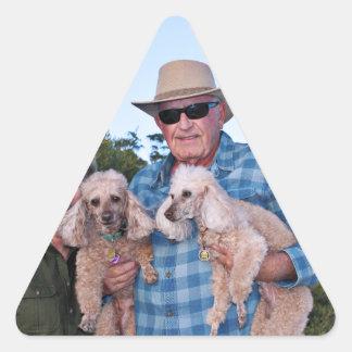 Leach - Poodles - Romeo Remy Triangle Sticker
