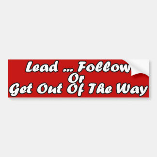 Lead Bumper Sticker