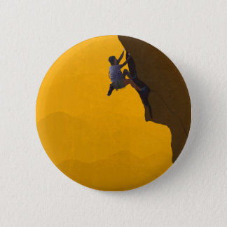 Lead Climb Rock Climber Illustration 2 Inch Round Button