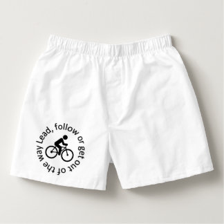 """""""Lead, Follow"""" cycling boxer shorts for men Boxers"""