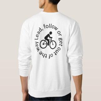"""""""Lead, Follow"""" cycling sweat shirts for men"""