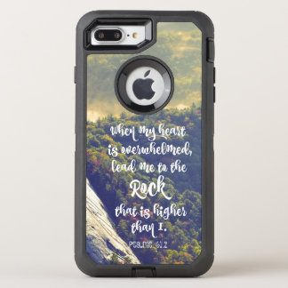 Lead me to the Rock Psalms Bible Verse OtterBox Defender iPhone 8 Plus/7 Plus Case