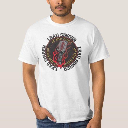 Lead Singer Mens Value Rock Music T-shirt