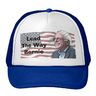 Lead the Way Bernie Sanders Baseball Cap Trucker Hat