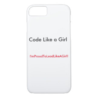 Lead with your code! iPhone 7 case