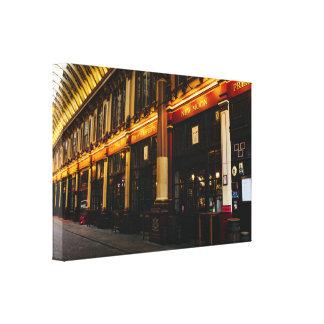 Leadenhall Market in London, United Kingdom Photo Canvas Print