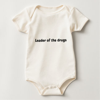 Leader of the drugs baby bodysuit