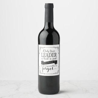 Leader Wine bottle label