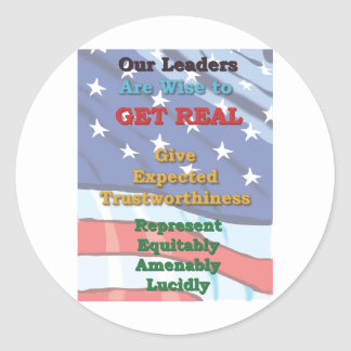Leaders wise to GET REAL Round Sticker