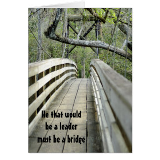 leadership ... a Welsh proverb Card