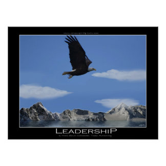 LEADERSHIP Eagle Smaller Motivational Poster