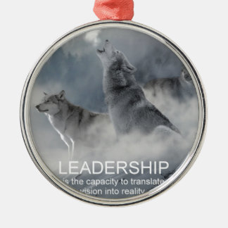 leadership motivational inspirational quote metal ornament
