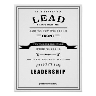Leadership Quote Poster