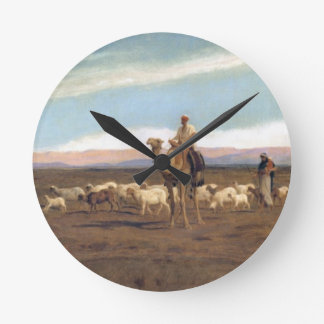 Leading the Flock to Pasture (oil on canvas) Wallclocks