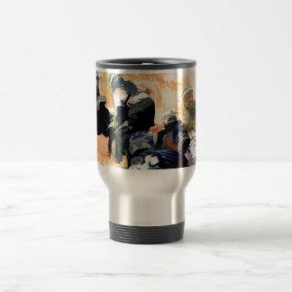 """""""Leading the Pack"""" Motocross Dirt-Bike Racers Travel Mug"""
