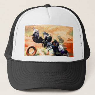 """Leading the Pack"" Motocross Dirt-Bike Racers Trucker Hat"