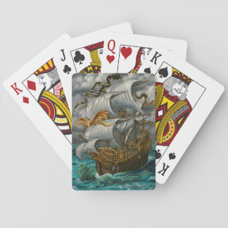 Leading the Way Ship with Dragons Playing Cards