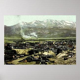 Leadville, Colorado Birdseye View Poster
