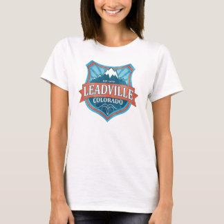 Leadville Colorado teal shield womens shirt