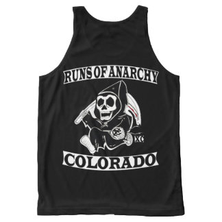 Leadville Runs of Anarchy Singlet All-Over-Print Tank Top