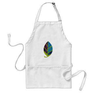 Leaf Abstract In Multi Colors Standard Apron