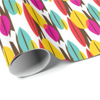 Leaf Abstract Retro Multicolored Pattern