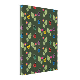Leaf and beetle canvas print