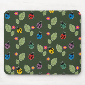 Leaf and beetle mouse pad