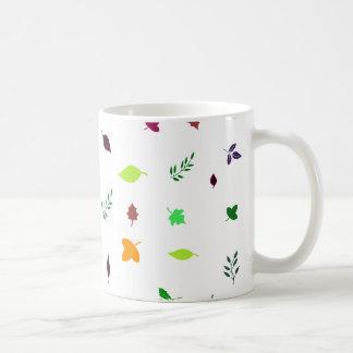 Leaf and Green Basic White Mug