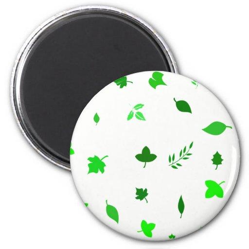 Leaf and Green Fridge Magnets