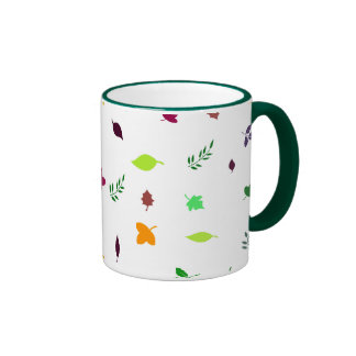 Leaf and Green Ringer Mug
