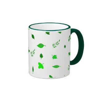 Leaf and Green Ringer Coffee Mug